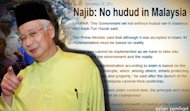 'Haram, also, to back Najib who doesn't want hudud?'