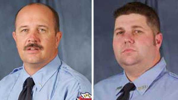 Bryan blaze kills 2 firefighters, injures another 2