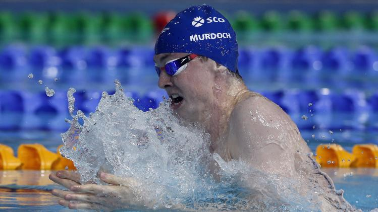Murdoch of Scotland swims in the men's 200m Breaststroke final during the 2014 Commonwealth Games in Glasgow