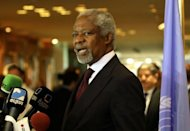 UN-Arab envoy Kofi Annan expressed &quot;horror&quot; at the Houla massacre of more than 100 people as he began a visit on Monday to the Syrian capital aimed at salvaging his battered peace plan
