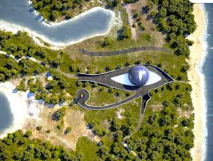 naomi campbell eye-shaped eco-friendly green home