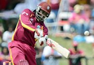 Star West Indian big-hitter Chris Gayle, pictured here on July 1, and Pakistani all-rounder Shahid Afridi have signed to play in Australia&#39;s domestic Twenty20 competition for the Sydney Thunder, the team said Monday