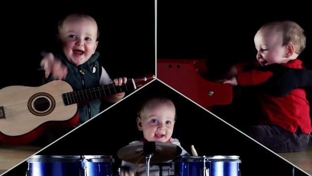 8-month-old boy is a one-baby-band
