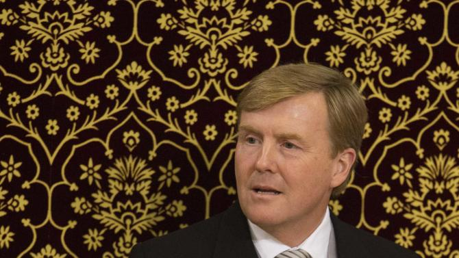 King Willem-Alexander delivers a speech in the Ridderzaal of the Dutch Parliament in the Hague