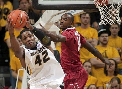 No. 10 Missouri whips Alabama 84-68 in SEC debut