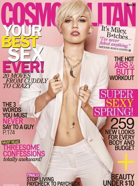 Miley Cyrus, Cosmopolitan March 2013 issue  -- Cosmopolitan