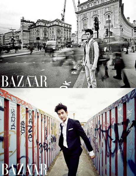 Kim Soo Hyun is a London Lad for 'Harper's Bazaar'