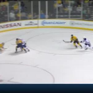 Pekka Rinne Save on Teddy Purcell (03:27/1st)