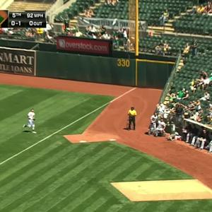 Reddick's fine running catch