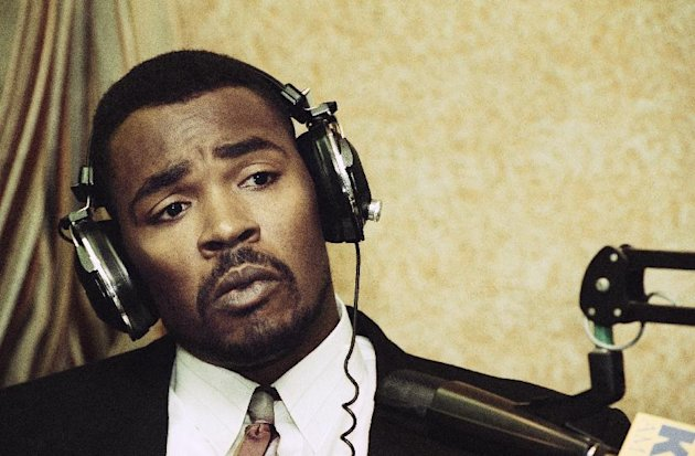 FILE - This July 20, 1993 file photo shows Rodney King speaking during an appearance on KFI-AM radio's