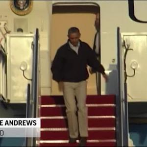 Raw: Obama Stumbles on Air Force One Steps