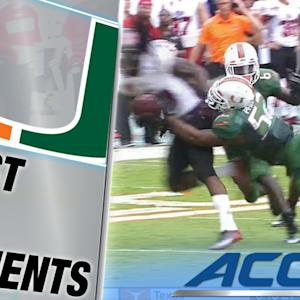 Denzel Perryman Sends Arkansas State RB Flying | ACC Must See Moment