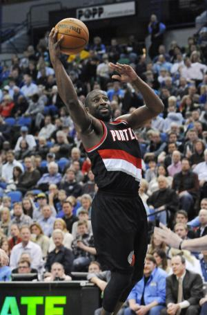 FILE - In this file photo March 7, 2012, Portland Trail Blazers' Raymond Felton looks to score against the Minnesota Timberwolves during an NBA basketball game in Minneapolis. Felton's agent confirmed a Yahoo Sports report Saturday, July 14, 2012, that Felton would be signed and traded by Portland to the New York Knicks. (AP Photo/Jim Mone, file)