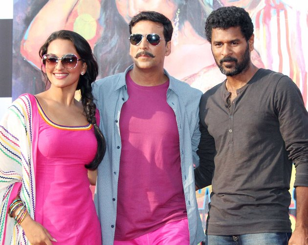 Spotted: Sonakshi, Akshay and Prabhu Deva