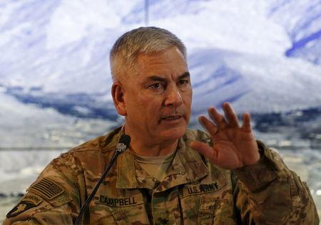 Outgoing U.S. commander says mission in Afghanistan not changing