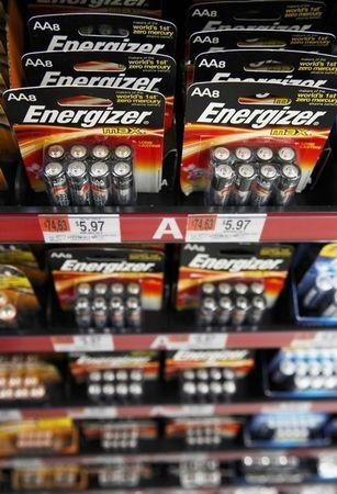 Energizer batteries are on display at a new Wal-Mart store in Chicago