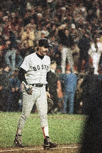 FILE - In this Oct. 25, 1986 file photo, Boston Red Sox first baseman Bill Buckner is a picture of dejection as he leaves the field after committing an error on a ball hit by New York Mets' Mookie Wilson, which allowed the winning run to score in the sixth game of the World Series, in New York. The baseball made famous when it rolled through Buckner's legs is being sold. Heritage Auctions says the ball is expected to bring in more than $100,000 during Friday's, May 4, 2012 auction in Dallas. (AP Photo/Rusty Kennedy, File)