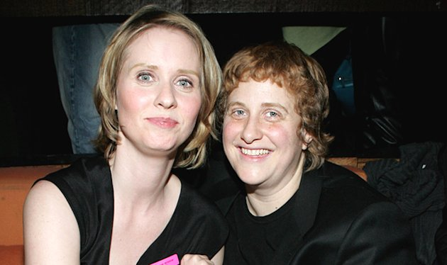 Cynthia Nixon and Christine Marinoni Wed