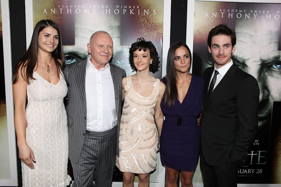 The Rite LA Premiere 2011 Marija Karan Anthony Hopkins Marta Gastini Alice Braga Colin O'Donoghue