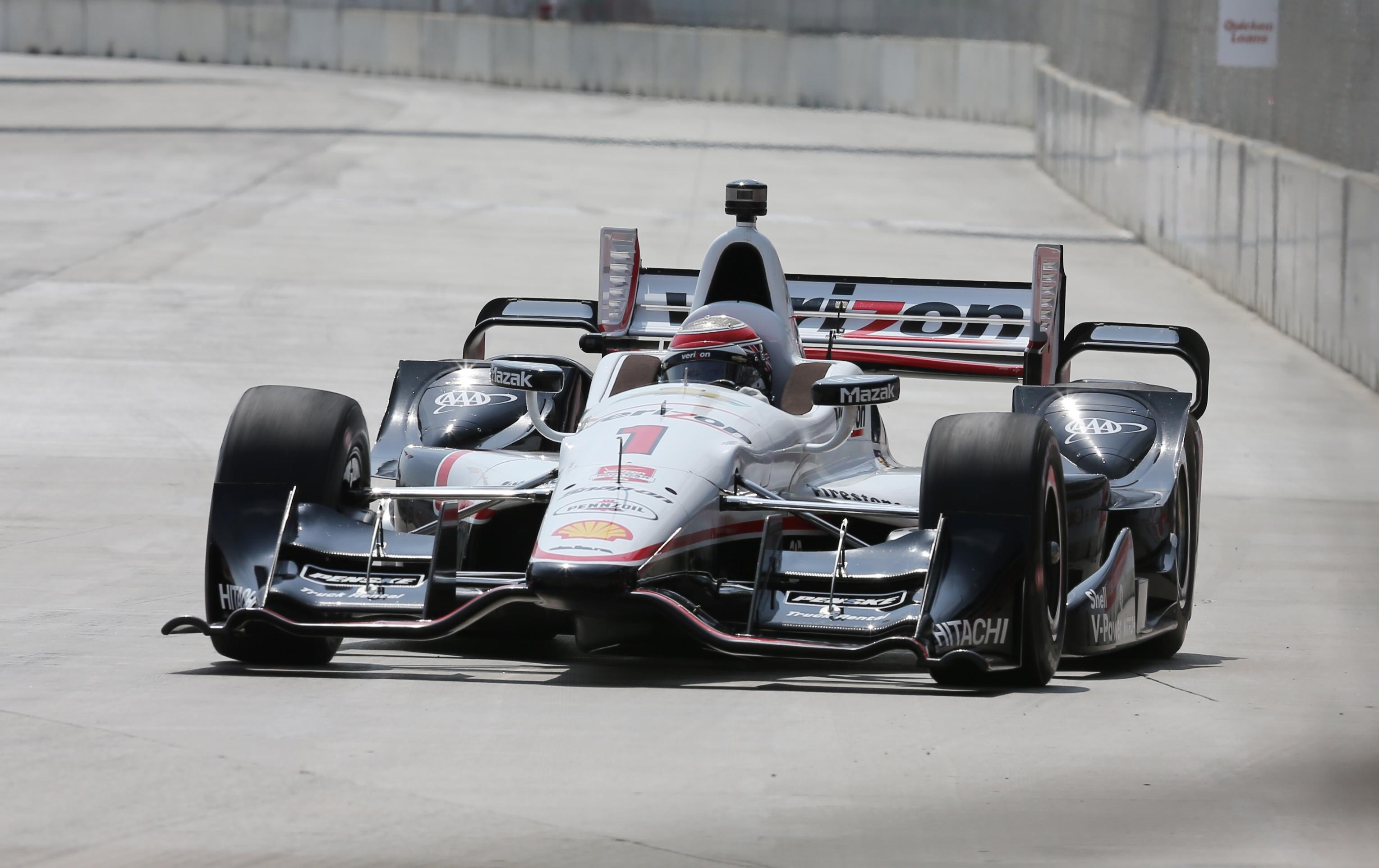 Will Power wins pole, sets track record at Belle Isle