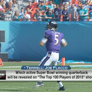 Which active quarterbacks will be revealed on the 'Top 100 Players of 2015'?