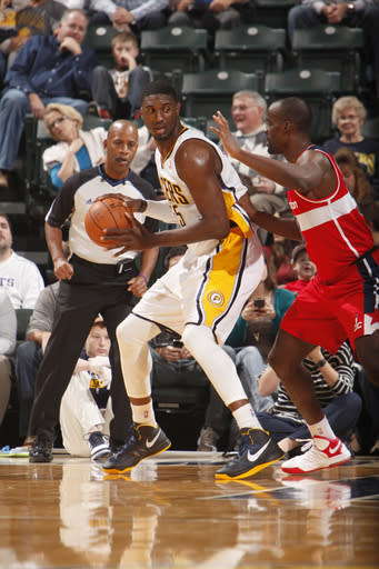 George helps Pacers top lowly Wizards 89-85