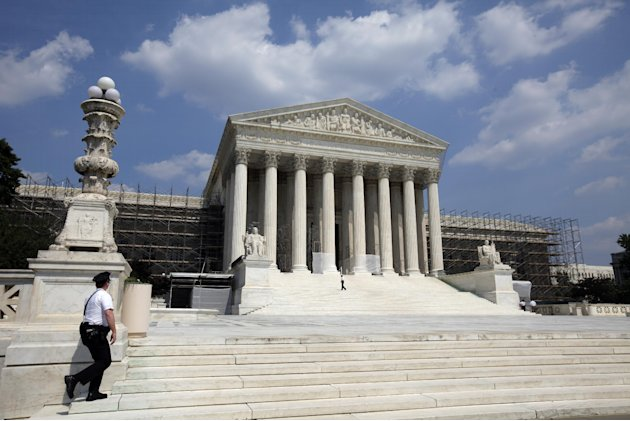 FILE - This June 20, 2012, file photo shows the U.S. Supreme Court in Washington. It's the biggest secret in a city known for not keeping them: the nine Supreme Court justices and more than three doze