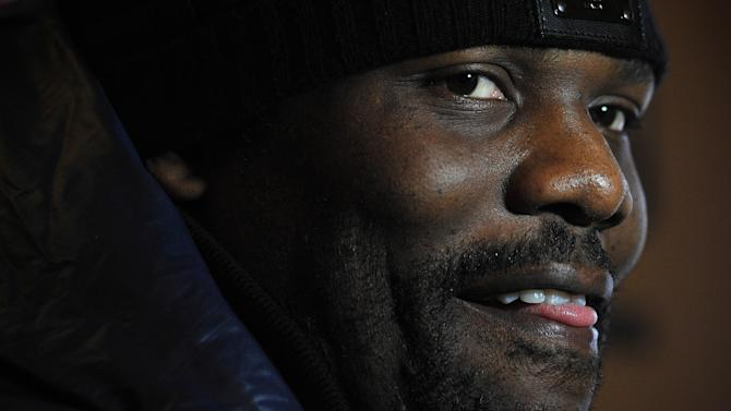 British heavyweight boxer Dereck Chisora speaks during a press conference in central London, on March 14, 2013