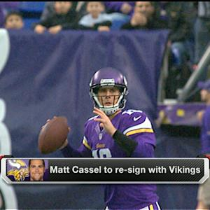 Matt Cassel re-signs with Minnesota Vikings