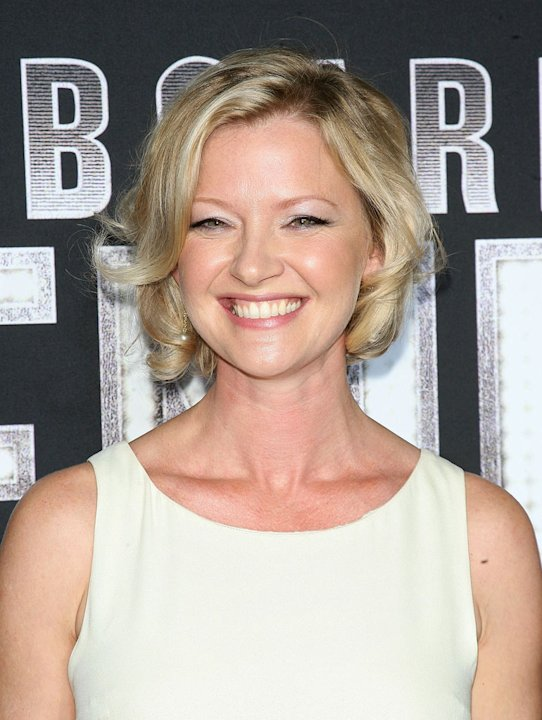 "Gretchen Mol attends the premiere of ""Boardwalk Empire"" at the Ziegfeld Theatre on September 15, 2010, in New York City."