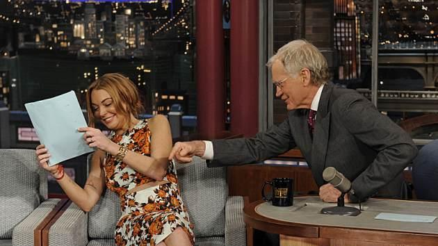 Lindsay Lohan visits 'The Late Show with David Letterman' -- CBS
