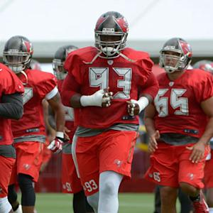 Tampa Bay Buccaneers defensive drills with Warren Sapp