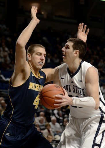 Penn St. upsets No. 4 Michigan 84-78; 1st B10 win