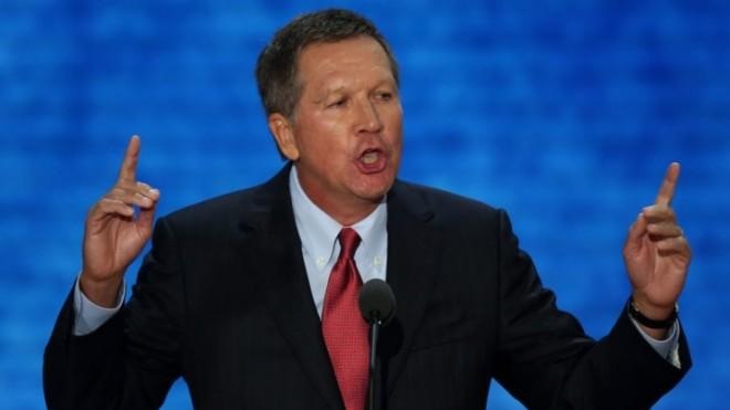 Gov. Kasich speaks during the Republican National Convention on Aug. 28 in Tampa.
