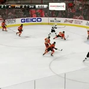 Steve Mason Save on Logan Couture (14:00/3rd)