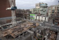 A condominium under construction is shown in Toronto on Saturday, February 4, 2012. The Bank of Canada is issuing among its starkest warnings to date about the country's housing market, again taking special aim at Toronto's condominium sector. THE CANADIAN PRESS/Pawel Dwulit