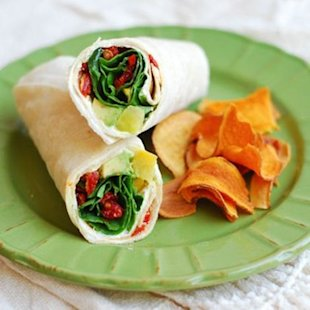 Sun-dried Tomato Veggie Wrap