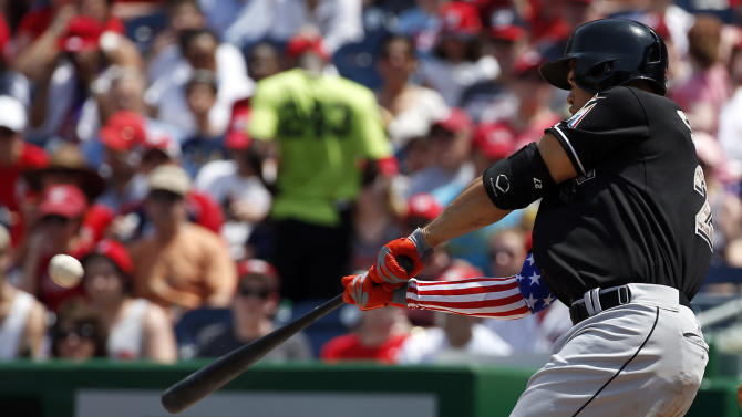 Stanton hits NL-leading 15th HR, Marlins top Nats