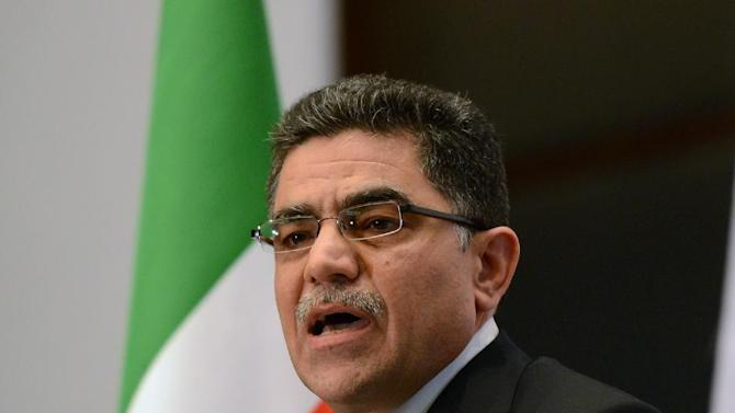 Ghassan Hitto, the Syrian opposition's newly elected interim prime minister, speaks during a press conference in Istanbul, Turkey, Tuesday, March 19, 2013. Hitto has ruled out dialogue with President Bashar Assad's regime.(AP Photo)