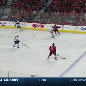 Devan Dubnyk Save on Deryk Engelland (02:42/1st)