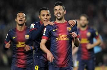 Barcelona 5-0 Cordoba (Agg 7-0): Doubles from Villa and Alexis help holders stroll into quarterfinals
