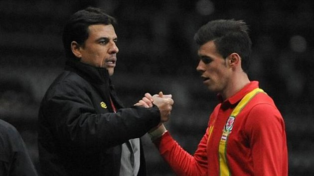 Chris Coleman, left, is delighted with Gareth Bale's commitment to Wales