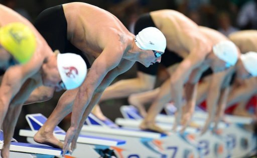 Ryan Lochte won his 200m IM semi-final in 1:55.51sec - fastest time in the world this year