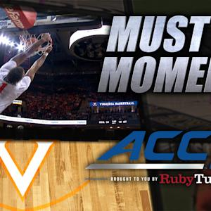 Virginia's Justin Anderson Throws Down Powerful Dunk | ACC Must See Moment