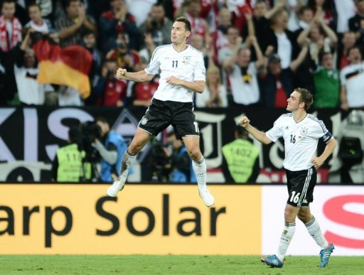 Miroslav Klose was substituted after 77 minutes, but not before scoring to help Germany to a 4-1 lead