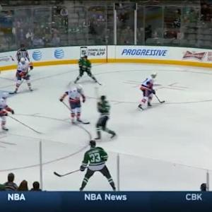 Jaroslav Halak Save on Ales Hemsky (07:56/1st)