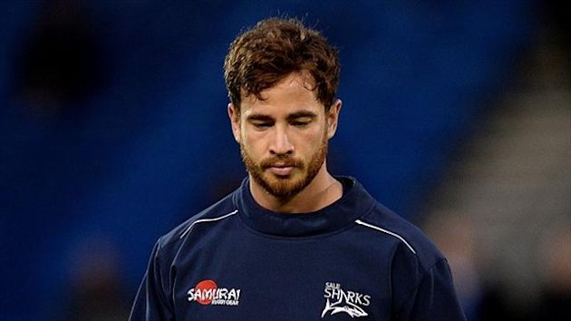 Danny Cipriani stole the show as Sale Sharks scored seven tries to overrun Oyonnax 53-14 and regain control of Group One in the Amlin Cup.
