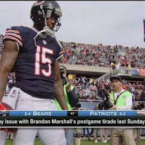 No issue with Chicago Bears wide receiver Brandon Marshall's tirade?