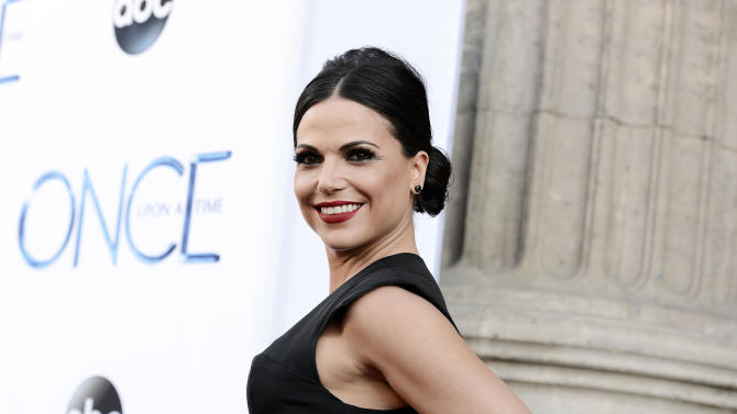 """Actress Lana Parrilla attends a special screening of the season four premiere of the ABC television series """"Once Upon a Time"""" at the El Capitan Theatre on Sunday, Sept. 21, 2014, in Los Angeles. (Photo by Dan Steinberg/Invision/AP Images)"""