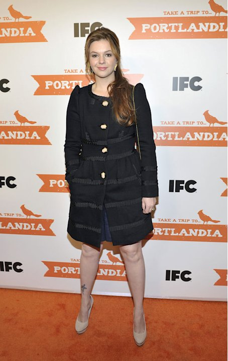 "Amber Tamblyn attends the ""Portlandia"" Season 2 premiere screening at the American Museum of Natural History on January 5, 2012 in New York City."